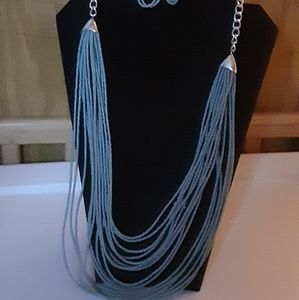 Grey seed bead necklace